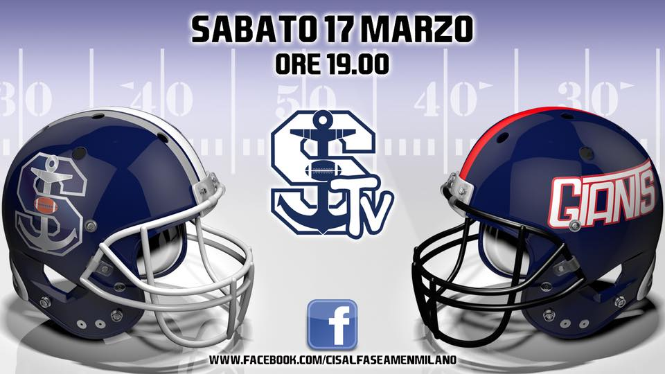 Seamen Giants 17 marzo ore 19.00